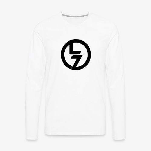 Black LZ Logo - Men's Premium Long Sleeve T-Shirt