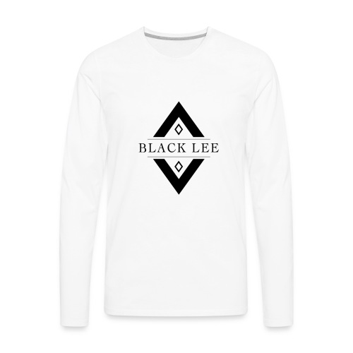 Black Lee Logo Transparent Black - Men's Premium Long Sleeve T-Shirt