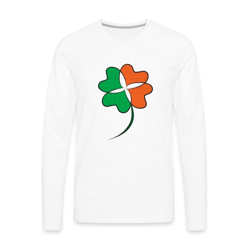 Irish Clover - Men's Premium Long Sleeve T-Shirt