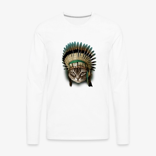 the chief cat - Men's Premium Long Sleeve T-Shirt