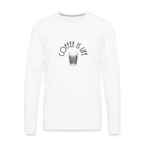 Coffee is life - Men's Premium Long Sleeve T-Shirt