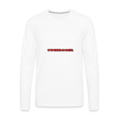 stephenxb42gamer logo - Men's Premium Long Sleeve T-Shirt