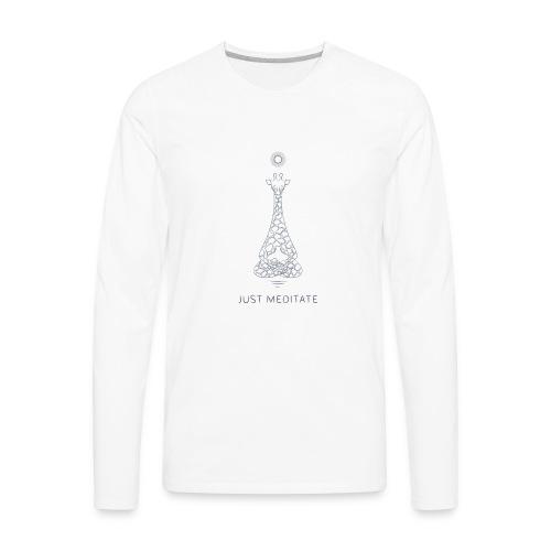 Meditating Giraffe - Men's Premium Long Sleeve T-Shirt