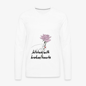 bitches broken hearts - Men's Premium Long Sleeve T-Shirt