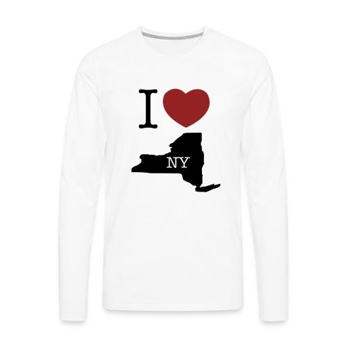 I Love NY T-Shirt - Men's Premium Long Sleeve T-Shirt