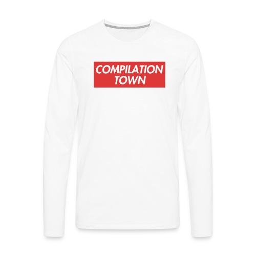 Compilation Town Supreme Parody Merch - Men's Premium Long Sleeve T-Shirt