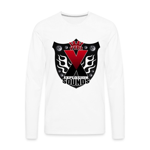 Vybz X Explosion Sounds Logo - Men's Premium Long Sleeve T-Shirt