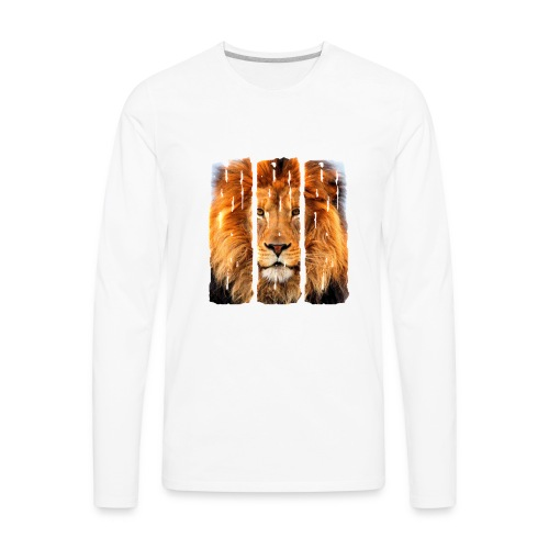 Lion Trifecta - Men's Premium Long Sleeve T-Shirt