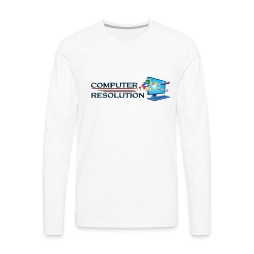 Colored Computer Resolution - Men's Premium Long Sleeve T-Shirt