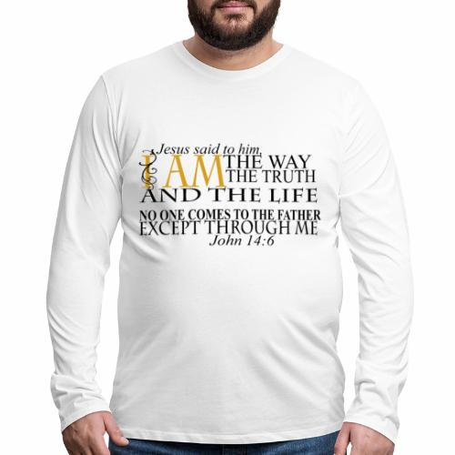 Jesus The Way The Truth The Life - Men's Premium Long Sleeve T-Shirt