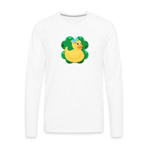 LuckyDuckyLogo - Men's Premium Long Sleeve T-Shirt