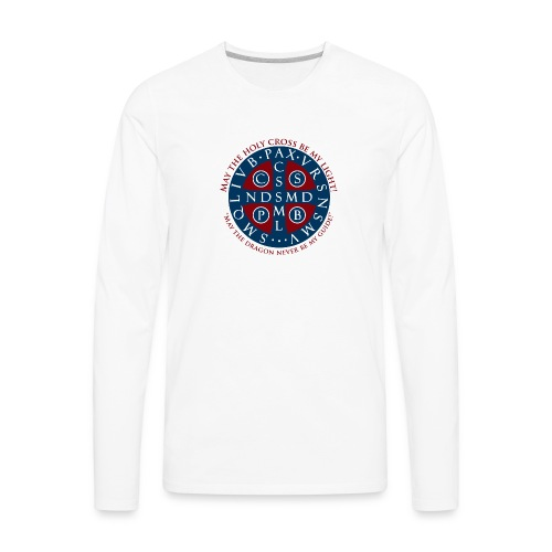 St Benedict Medal01 - Men's Premium Long Sleeve T-Shirt