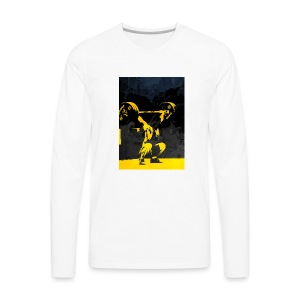 Weightlifting Olympics Snatch - Men's Premium Long Sleeve T-Shirt