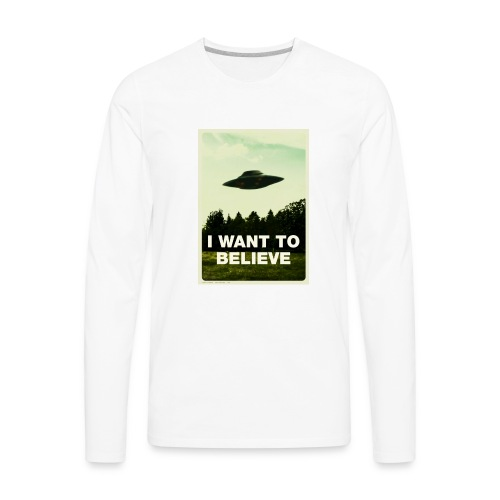 i want to believe (t-shirt) - Men's Premium Long Sleeve T-Shirt