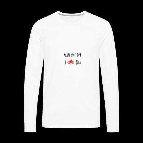 watermelon - Men's Premium Long Sleeve T-Shirt