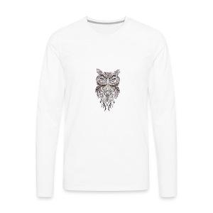 tatouage ephemere hibou tribal - Men's Premium Long Sleeve T-Shirt