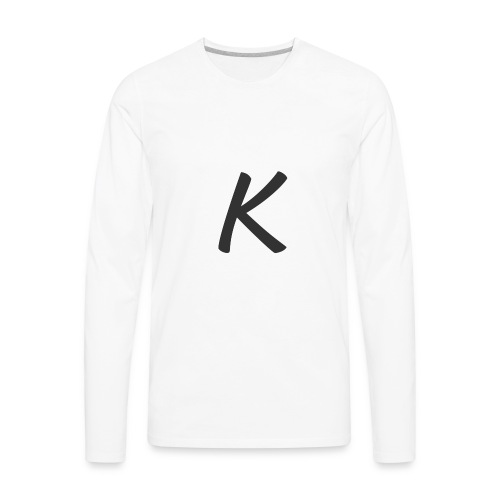 krop k gray - Men's Premium Long Sleeve T-Shirt