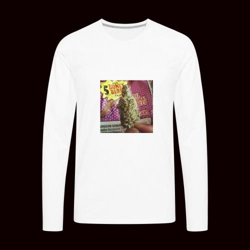 weed the best - Men's Premium Long Sleeve T-Shirt