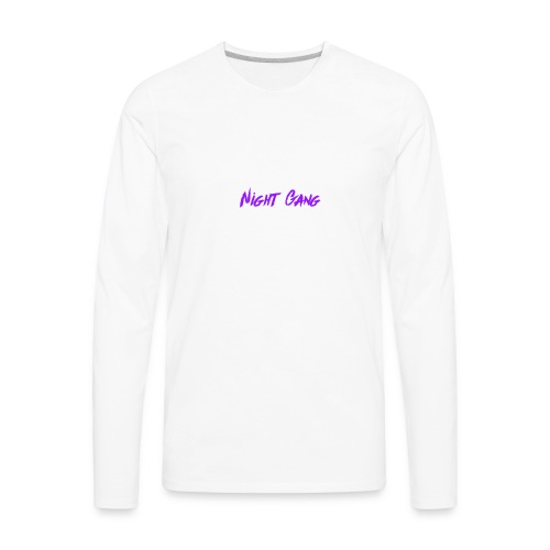 Night Gang logo - Men's Premium Long Sleeve T-Shirt