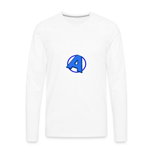 Awesomegamer Logo - Men's Premium Long Sleeve T-Shirt