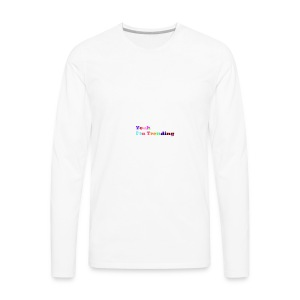 ImTrending///Logo - Men's Premium Long Sleeve T-Shirt