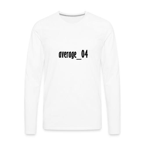 average_04 merch - Men's Premium Long Sleeve T-Shirt