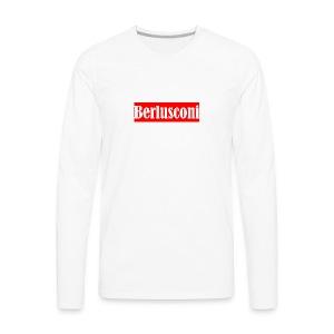 Berlusconi Supreme Logo - Men's Premium Long Sleeve T-Shirt