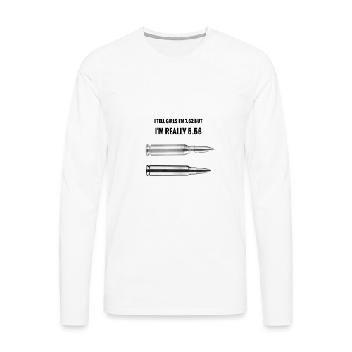 Lying on tinder - Men's Premium Long Sleeve T-Shirt