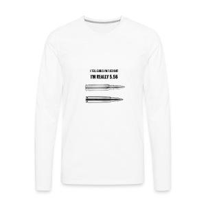 Lying on tinder - Men's Premium Long Sleeve T-Shirt