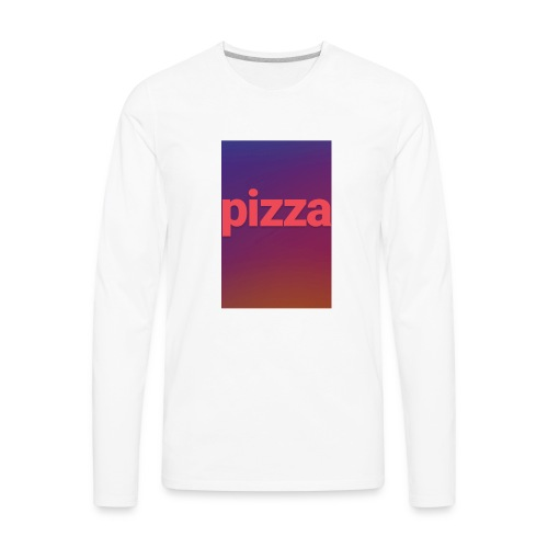 the pizza supreme - Men's Premium Long Sleeve T-Shirt