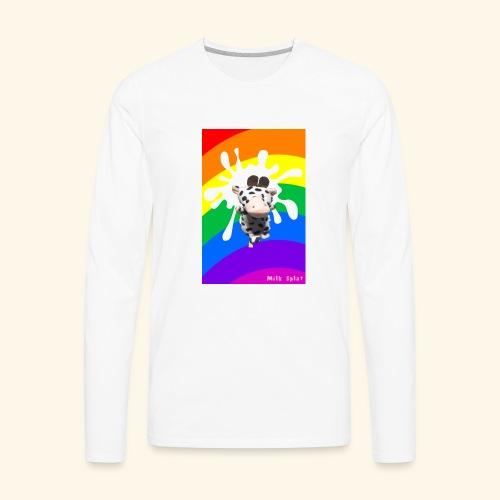 MilkSplay Original - Men's Premium Long Sleeve T-Shirt