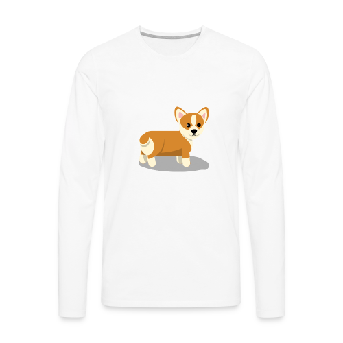 cute corgi - Men's Premium Long Sleeve T-Shirt