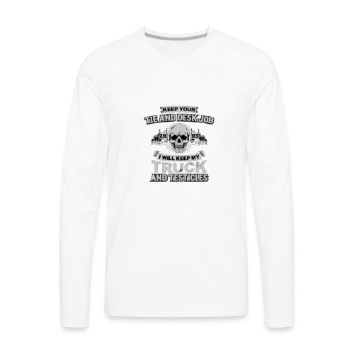 truck driver 1 - Men's Premium Long Sleeve T-Shirt