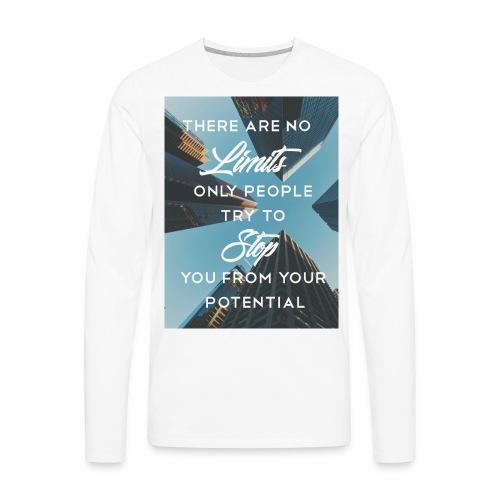 no limits - Men's Premium Long Sleeve T-Shirt