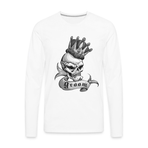 King of the Castle (BW) - Men's Premium Long Sleeve T-Shirt