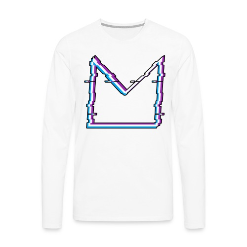 Glitch M//TECH Logo - Men's Premium Long Sleeve T-Shirt