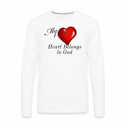My Heart T Shirt - Men's Premium Long Sleeve T-Shirt