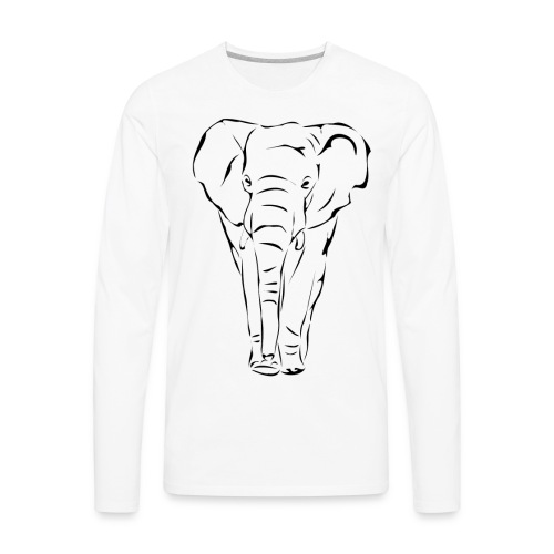 The Noble Elephant - Men's Premium Long Sleeve T-Shirt