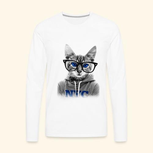 smart cat - Men's Premium Long Sleeve T-Shirt