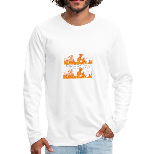 FB FLAME FIRE MERCH - Men's Premium Long Sleeve T-Shirt