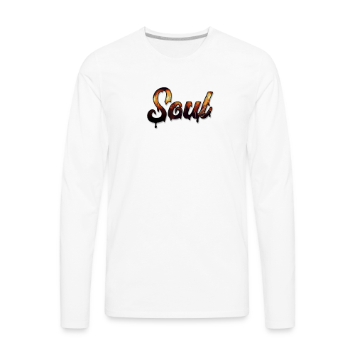 SOUL Apparel Pixel Hell Logo - Men's Premium Long Sleeve T-Shirt