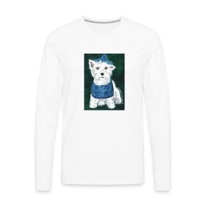 Laddie my Westie a Westie Highland White Terrier - Men's Premium Long Sleeve T-Shirt