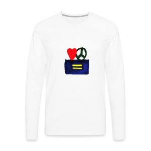 Peace, Love and Equality - Men's Premium Long Sleeve T-Shirt