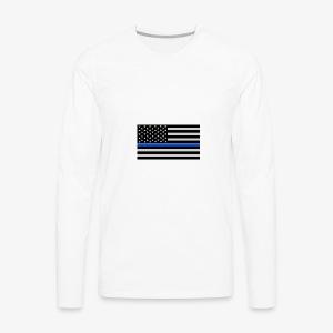 blue lives matter - Men's Premium Long Sleeve T-Shirt