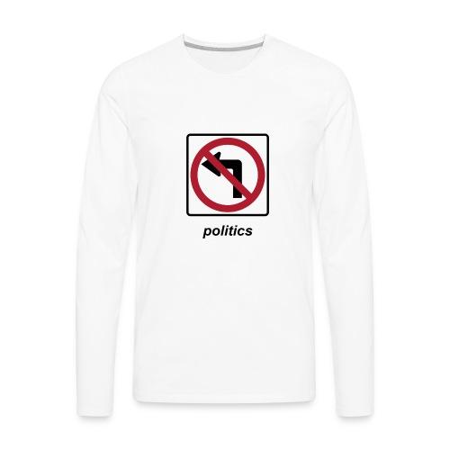 America We Stand - No Socialism No Communism - Men's Premium Long Sleeve T-Shirt