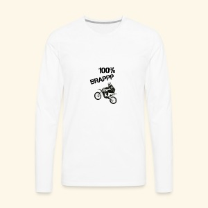 100% BRAPPP (Black and White) - Men's Premium Long Sleeve T-Shirt