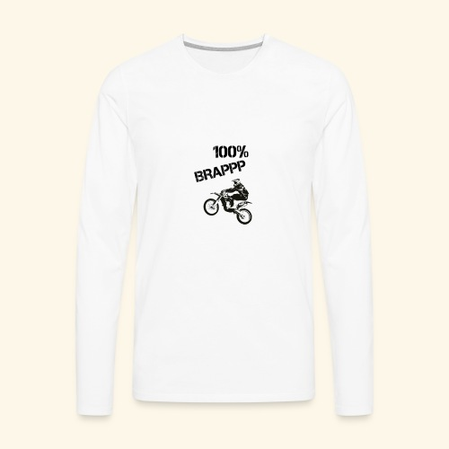 100% BRAPPP (Black and White) - Men's Premium Long Sleeve T-Shirt