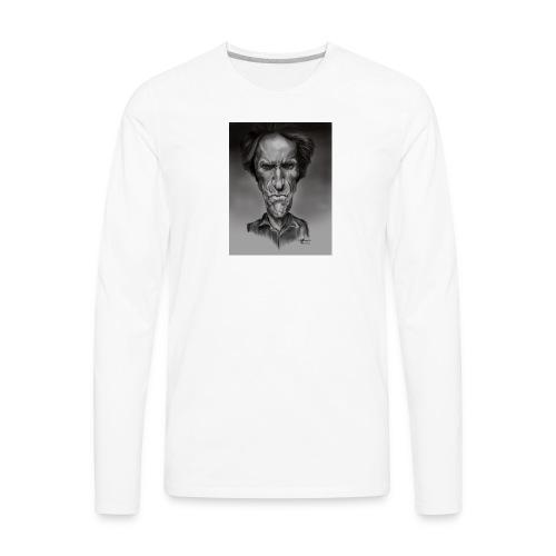 Caricature of Dirty Harry - Men's Premium Long Sleeve T-Shirt