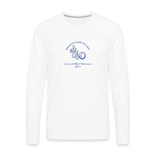 Original Member JudyBlue Tribe 2017 (blue logo) - Men's Premium Long Sleeve T-Shirt