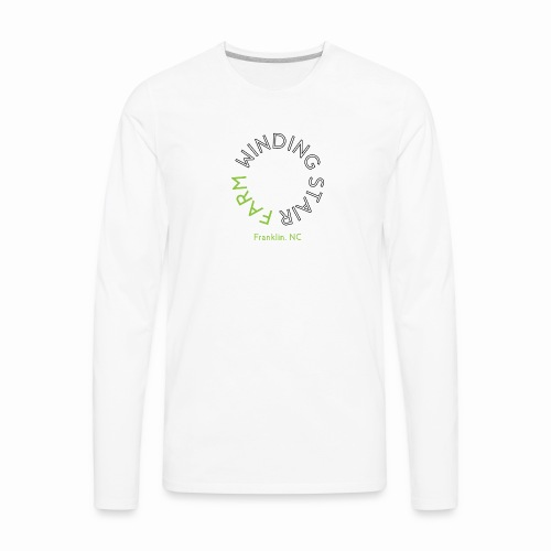 Winding Stair Farm logo - black text - Men's Premium Long Sleeve T-Shirt